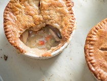 Individual double-crusted chicken pot pies