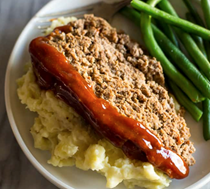Instant Pot meatloaf with mashed potatoes