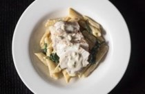 Instant Pot spinach chicken Alfredo pasta