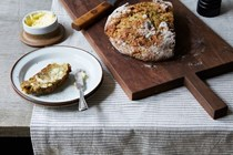 Irish soda bread with celery and beer