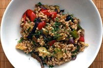 Italian farro salad with roasted vegetables (Dinner Tonight)