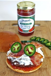 Jalapeno burger with cream cheese