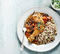 Jamaican chicken with rice & peas