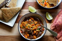 Jamaican pork and sweet potato stew