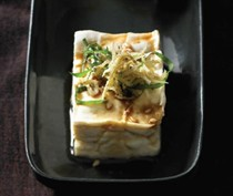 Japanese chilled tofu (Hiya yakko)