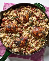 Jerk chicken skillet dinner