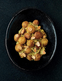 Jersey Royals with almonds (Badami aloo) [Asma Khan]