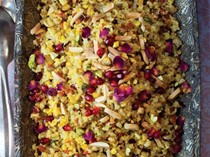 Jeweled brown basmati rice and quinoa (Morassa polo) from 'The New Persian Kitchen' (Cook the Book)