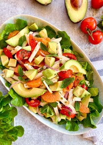 Jicama, avocado, and orange salad