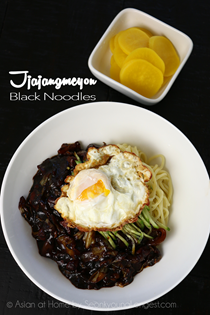 Jjajangmeyon Korean black bean noodles