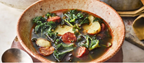 Kale, chorizo and potato soup (Caldo verde)