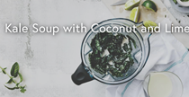 Kale soup with coconut and lime