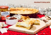 Kavey's cheeseboard & chutney quiche