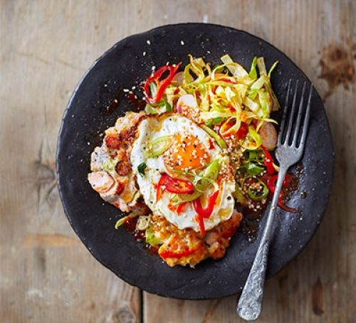 Bbc good food magazine march 2016 eat your books korean fishcakes with fried eggs spicy salad forumfinder Choice Image