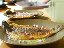 Lake trout with kitchen butter sauce