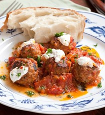 Lamb and pork meatballs with simple tomato sauce