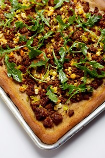 Lamb pizza