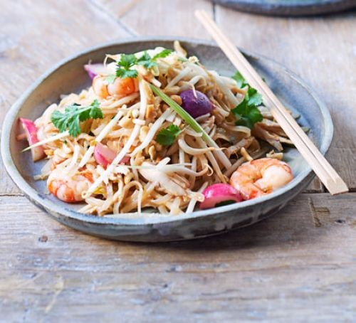 leftover roast chicken pad thai