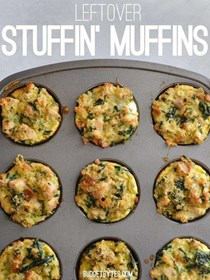 Leftover stuffin' muffins
