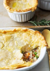 Leftover turkey pot pies