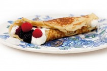 Lemon and currant pancakes