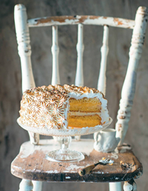 Lemon meringue cloud cake