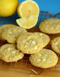 Lemon poppy seed white chocolate chip cookies