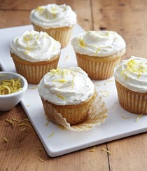 Lemon ricotta cupcakes with fluffy lemon frosting