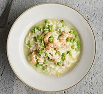 Lemony prawn & pea pressure cooker risotto
