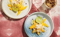 Lime granita with mango, chilli and salt