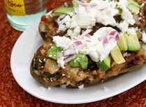 Loaded chili baked potatoes