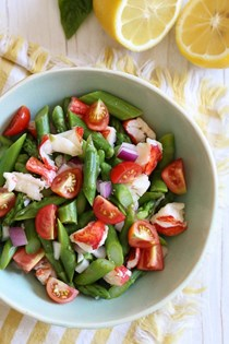 Lobster asparagus chopped salad