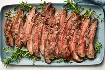 London broil with rosemary and thyme