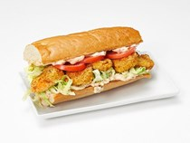 Louisiana shrimp po'boy