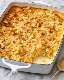 Make-ahead creamy mac & cheese casserole