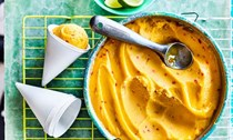 Mango and chilli sorbet