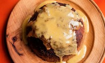 Maple and pecan steamed pudding