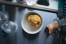 Maple-poached quince