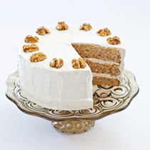 Maple-walnut cake