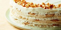 Marshmallow-peanut butter icebox cake