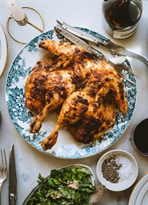 Mayo roast chicken