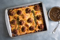 Meatball toad-in-the-hole
