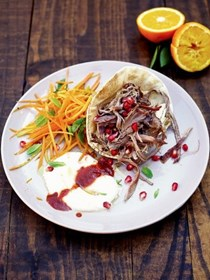 Mechoui lamb with carrot & orange salad