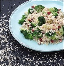 Mediterranean quinoa with broccoli