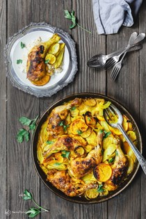 Mediterranean roast chicken with turmeric and fennel