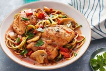 Melissa Hartwig's Instant Pot chicken cacciatore with zucchini noodles