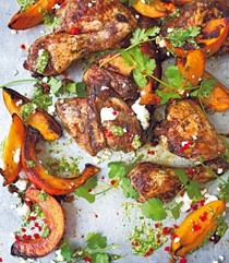 Mexican chicken and pumpkin with pepita pesto