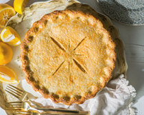 Meyer lemon Shaker pie [ginger pie dough]