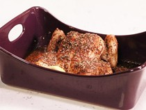 Middle Eastern garlic-roasted chicken