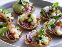 Middle-Eastern salad cups
